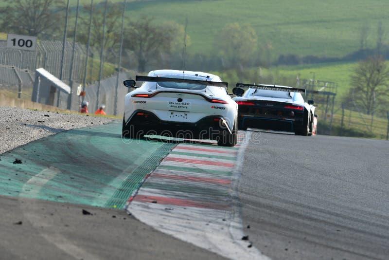 Ιταλία - 29 Μαρτίου 2019: Άστον Martin πλεονέκτημ AMR GT4 της ομάδας της Γερμανίας απόδοσης PROsport στοκ φωτογραφίες με δικαίωμα ελεύθερης χρήσης