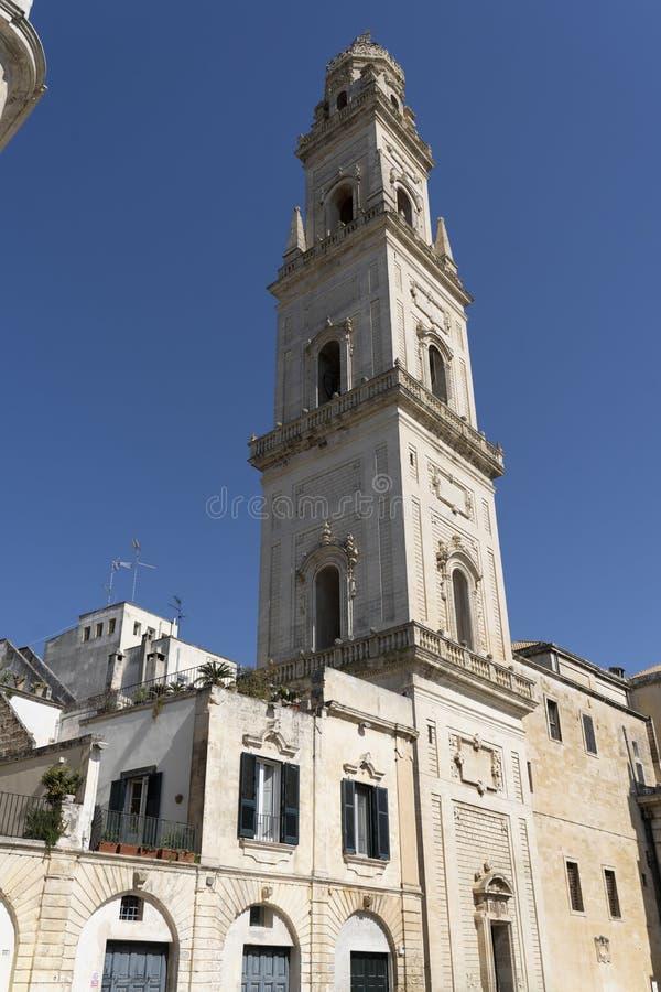 Ιταλία, Πούλια, επαρχία Lecce, Lecce Cathedral Duomo di Lecce, ή Cattedrale dell`Assunzione della Virgine στοκ εικόνες