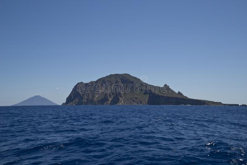 Ιταλία Σικελία, αιολικά νησιά, Stromboli και Panarea στοκ εικόνες