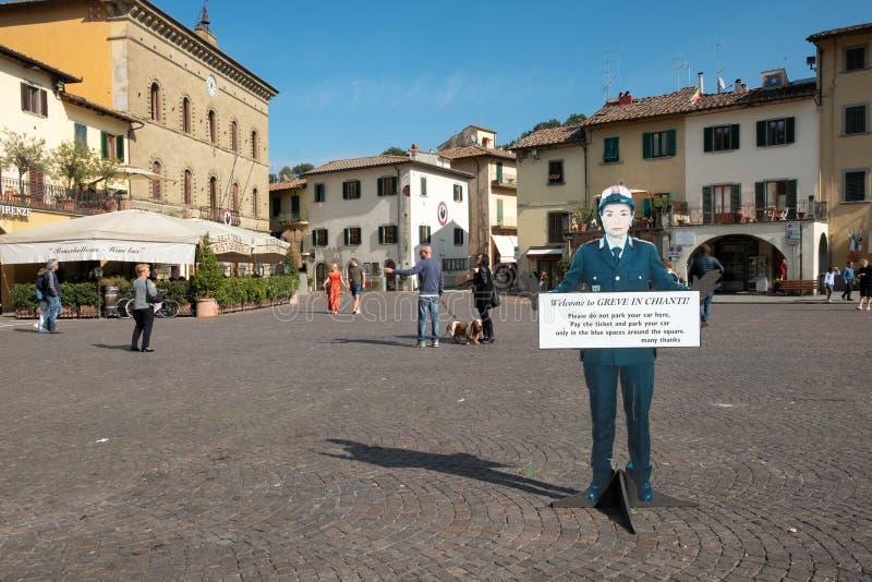 Ιταλία, Τοσκάνη, η επαρχία της Φλωρεντίας, Greve σε Chianti, η πλατεία της πόλης στοκ εικόνες με δικαίωμα ελεύθερης χρήσης