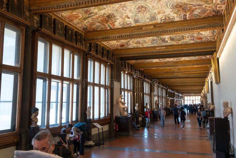 Ιταλία, Τοσκάνη, Φλωρεντία, εσωτερική του μουσείου Uffizi στοκ εικόνα