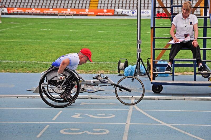 Ιταλικά πρωταθλήματα του αθλητισμού για paralympic στοκ φωτογραφίες με δικαίωμα ελεύθερης χρήσης