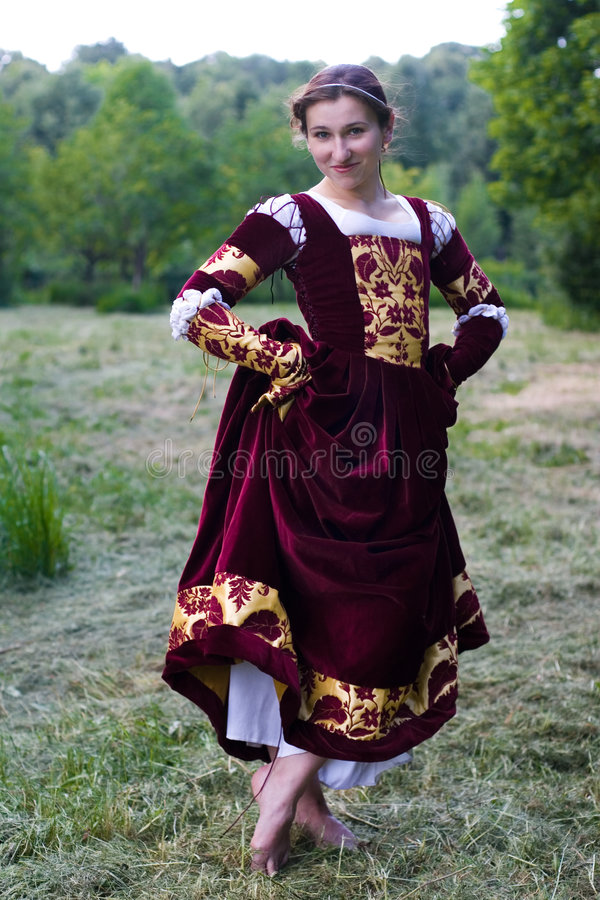 ιταλική αναγέννηση φορεμάτων στοκ εικόνες με δικαίωμα ελεύθερης χρήσης
