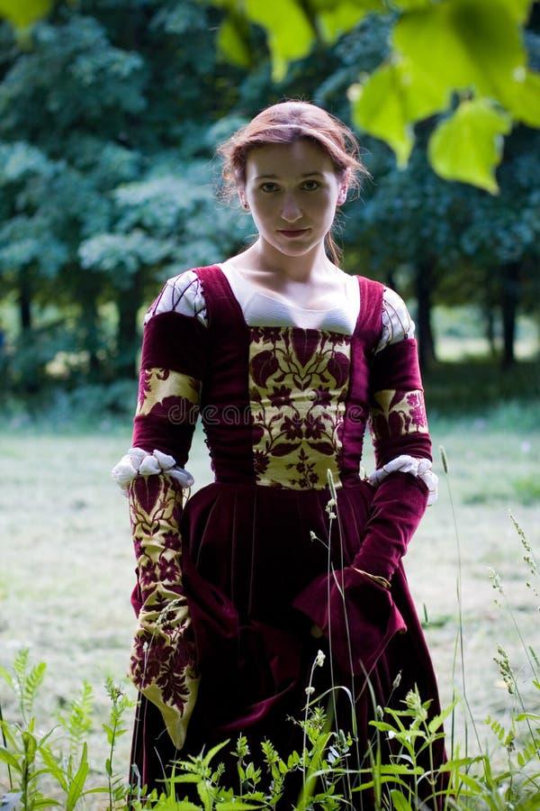ιταλική αναγέννηση φορεμάτων στοκ εικόνα