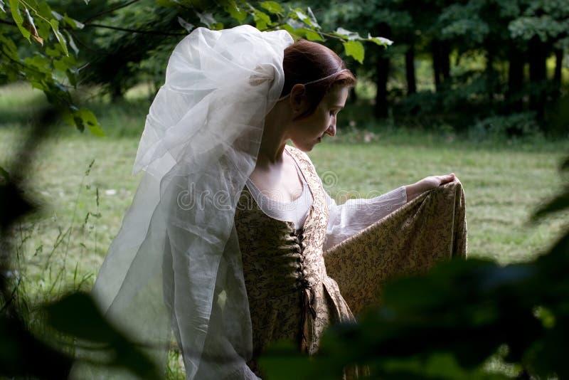 ιταλική αναγέννηση φορεμάτων στοκ φωτογραφία