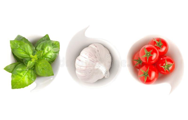 Ιταλική σημαία τροφίμων στοκ εικόνες με δικαίωμα ελεύθερης χρήσης