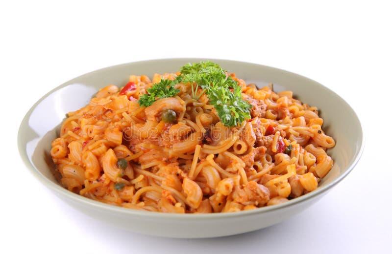 ιταλικό πιάτο ζυμαρικών στοκ φωτογραφία
