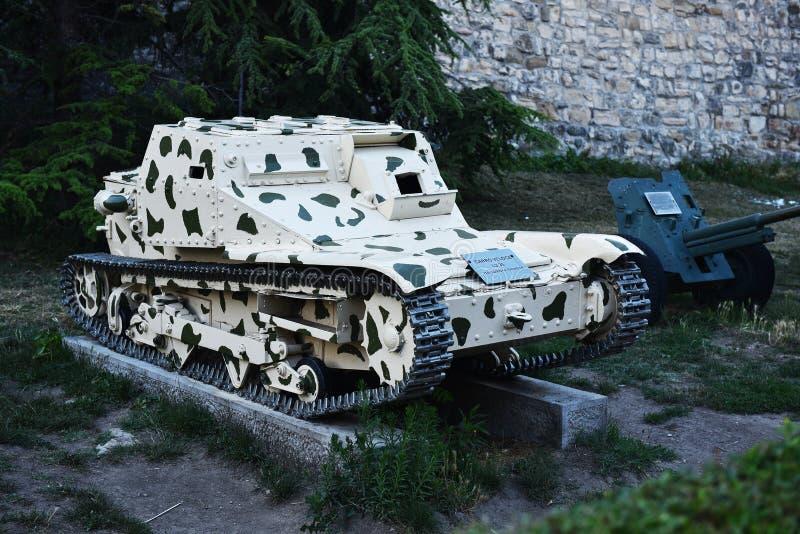 Ιταλικό πολεμικό τρόπαιο δεξαμενών από το Δεύτερο Παγκόσμιο Πόλεμο στοκ εικόνες