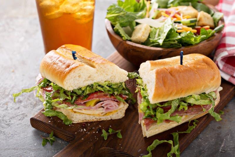 Ιταλικό σάντουιτς για το μεσημεριανό γεύμα στοκ φωτογραφίες