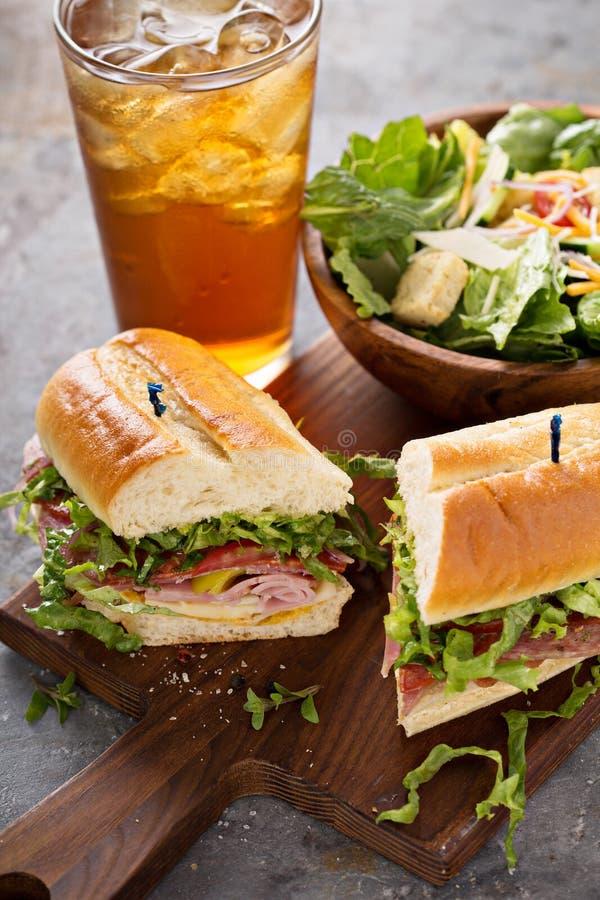 Ιταλικό σάντουιτς για το μεσημεριανό γεύμα στοκ εικόνες