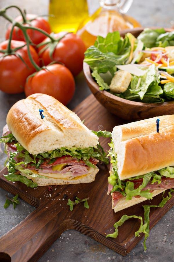 Ιταλικό σάντουιτς για το μεσημεριανό γεύμα στοκ εικόνες με δικαίωμα ελεύθερης χρήσης