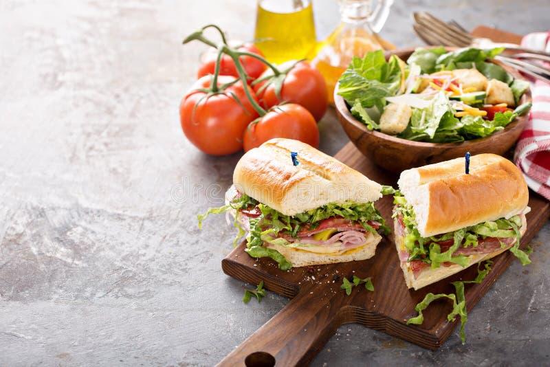 Ιταλικό σάντουιτς για το μεσημεριανό γεύμα στοκ φωτογραφίες με δικαίωμα ελεύθερης χρήσης