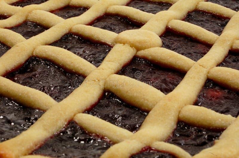 ιταλικό σμέουρο crostata ξινό στοκ εικόνα