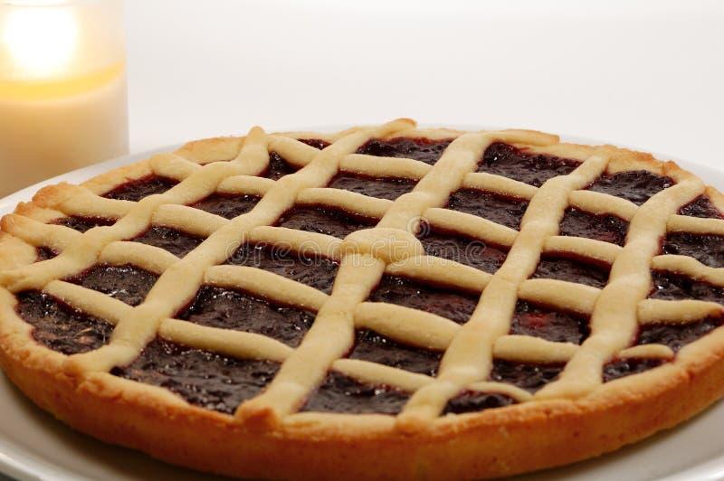 ιταλικό σμέουρο crostata ξινό στοκ εικόνες
