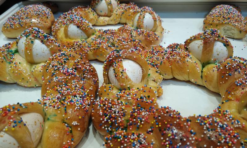Ιταλικό ψωμί Πάσχας, Pane Di Pasqua στοκ φωτογραφία με δικαίωμα ελεύθερης χρήσης