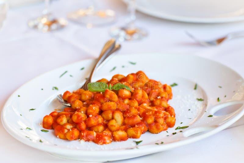 ιταλικό sorrentina ζυμαρικών gnocchi alla στοκ εικόνες