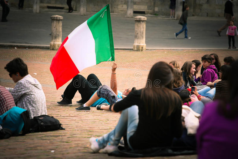 Ιταλία (ιταλική σημαία) στοκ εικόνα