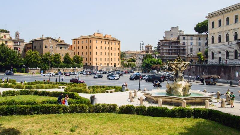 Ιταλία, Ρώμη, della Verita (τετραγωνικό Bocca πλατειών του στόματος της αλήθειας) στοκ εικόνα με δικαίωμα ελεύθερης χρήσης