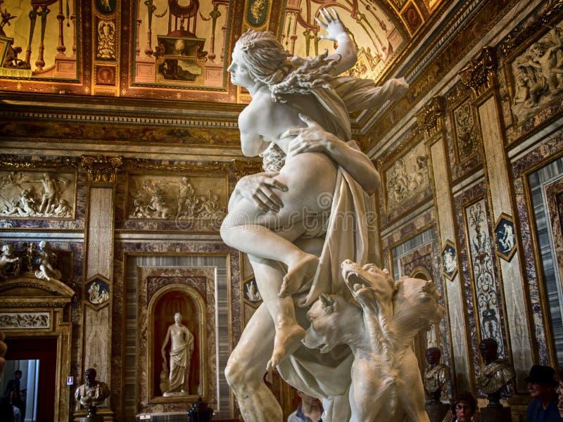 Ιταλία, Ρώμη, Galleria Borghese, ο βιασμός Proserpina από Bernini, λεπτομέρεια 4 στοκ εικόνα