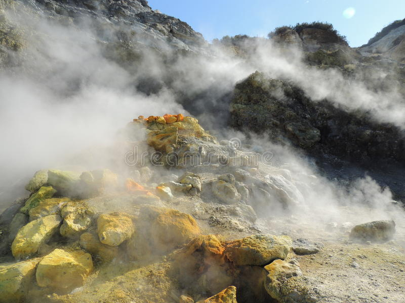 Ιταλία, τουρισμός, ηφαίστειο, Solfatara, στοκ εικόνα