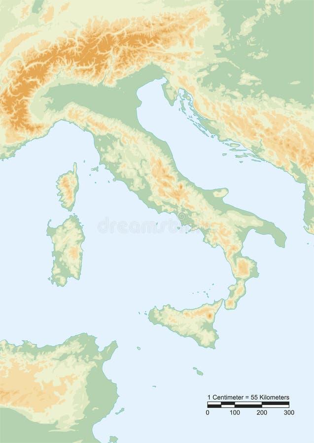 Ιταλία φυσική διανυσματική απεικόνιση