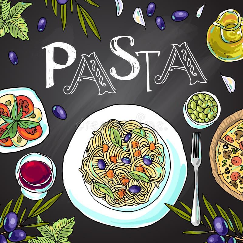 ιταλικά ζυμαρικά απεικόνιση αποθεμάτων