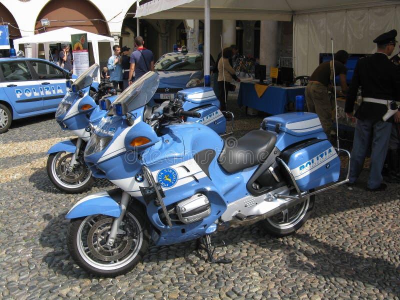 Ιταλικές μοτοσικλέτες αστυνομίας στοκ εικόνες με δικαίωμα ελεύθερης χρήσης