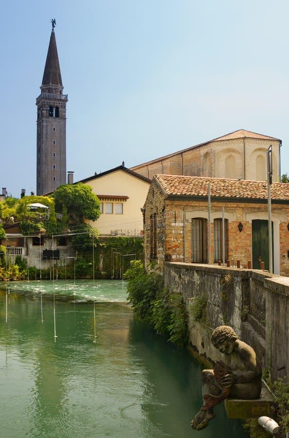 Ιταλική πόλη, Sacile στοκ φωτογραφία με δικαίωμα ελεύθερης χρήσης