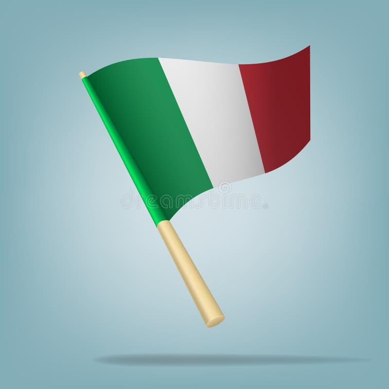 Ιταλική σημαία, διανυσματική απεικόνιση διανυσματική απεικόνιση