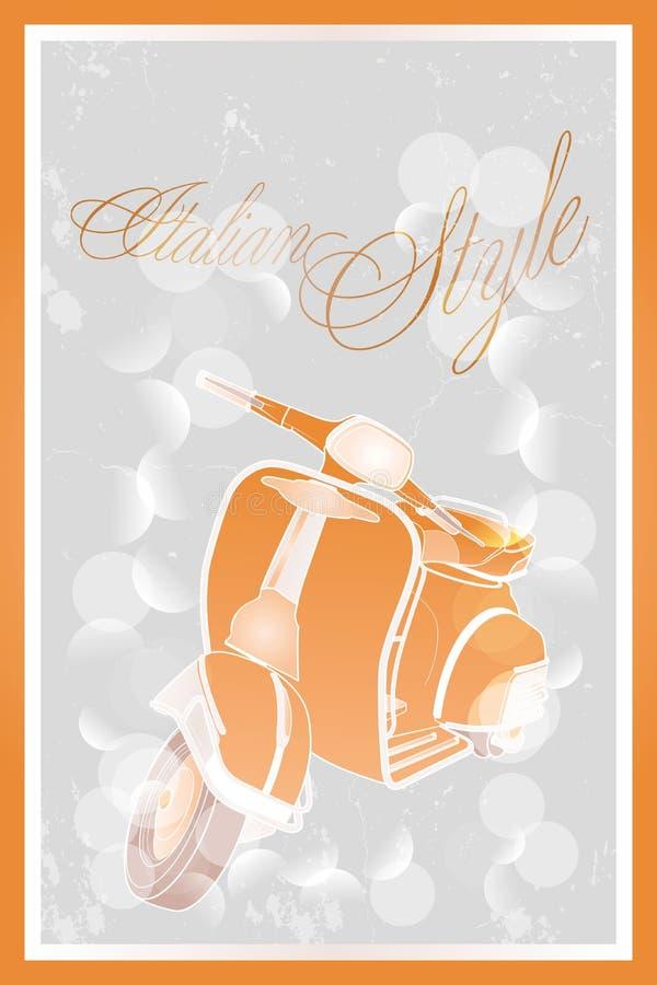 Ιταλικό μοτοποδήλατο ύφους απεικόνιση αποθεμάτων
