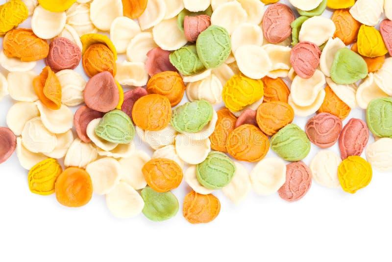 Ιταλικό υπόβαθρο ζυμαρικών χρωμάτων στοκ εικόνες με δικαίωμα ελεύθερης χρήσης