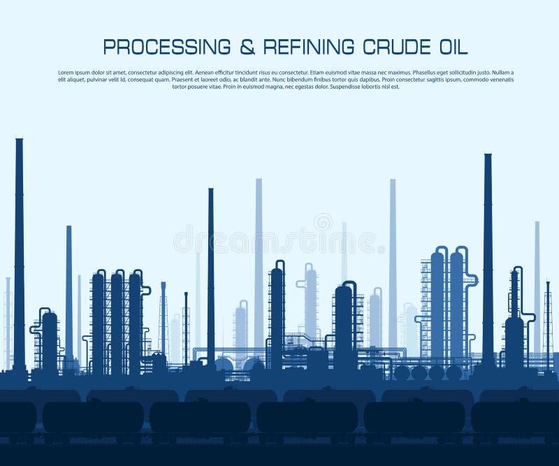 διυλιστήριο πετρελαίο&up ελεύθερη απεικόνιση δικαιώματος