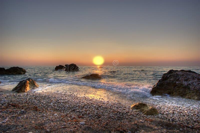ιόνιο ηλιοβασίλεμα Στοκ Εικόνες