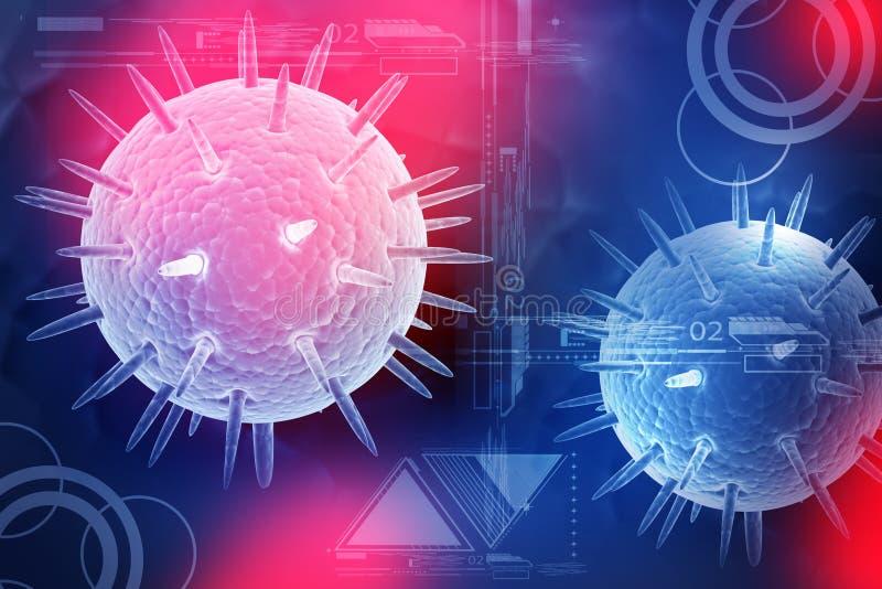 Ιός γρίπης διανυσματική απεικόνιση