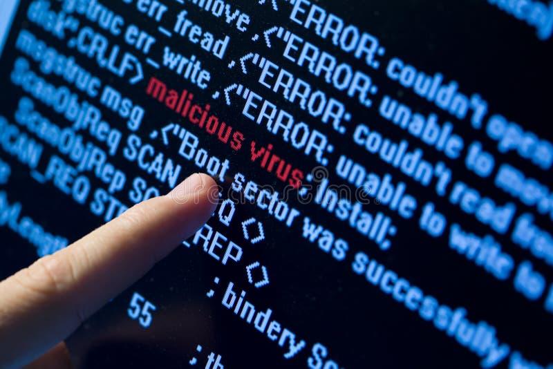ιός προγράμματος κώδικα στοκ εικόνες