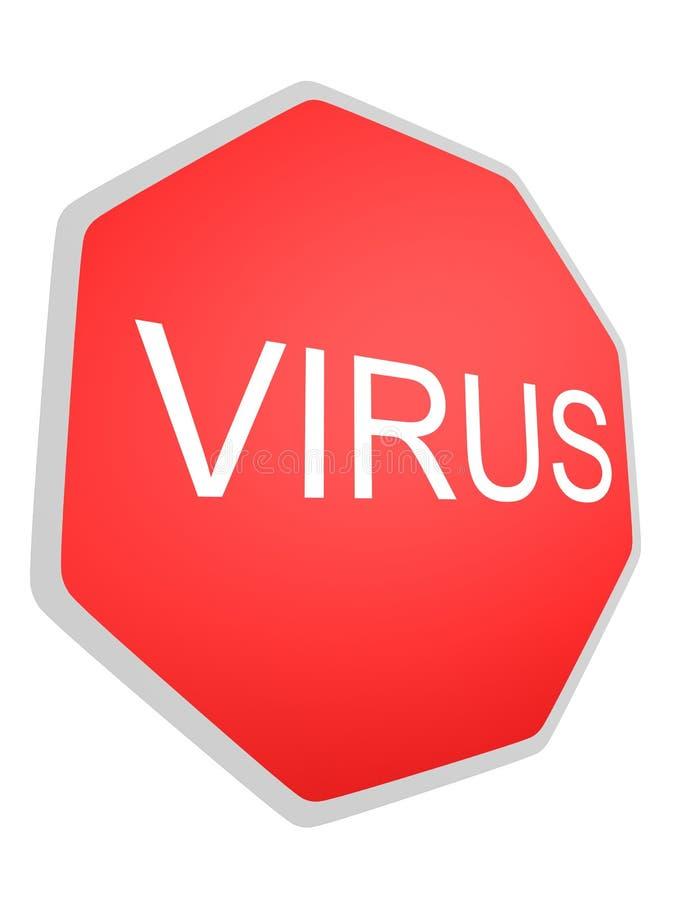 ιός σημαδιών διανυσματική απεικόνιση