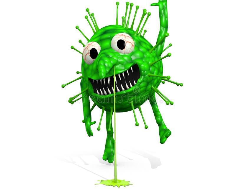 Ιός της γρίπης - ακόμα που κρεμά γύρω απεικόνιση αποθεμάτων