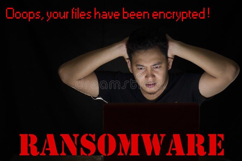 Ιός υπολογιστών Ransomware στοκ εικόνες
