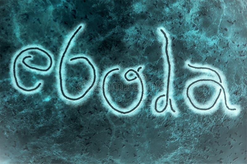 Ιός Ebola διανυσματική απεικόνιση