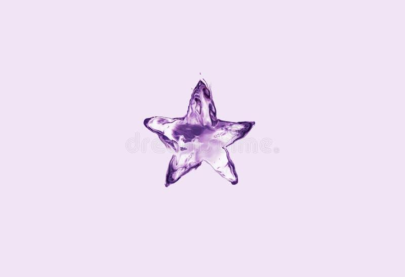 Ιώδες αστέρι νερού απεικόνιση αποθεμάτων