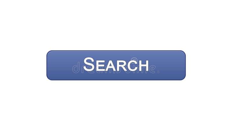 Ιώδες χρώμα κουμπιών διεπαφών Ιστού αναζήτησης, έλεγχος Διαδικτύου, σχέδιο περιοχών ελεύθερη απεικόνιση δικαιώματος