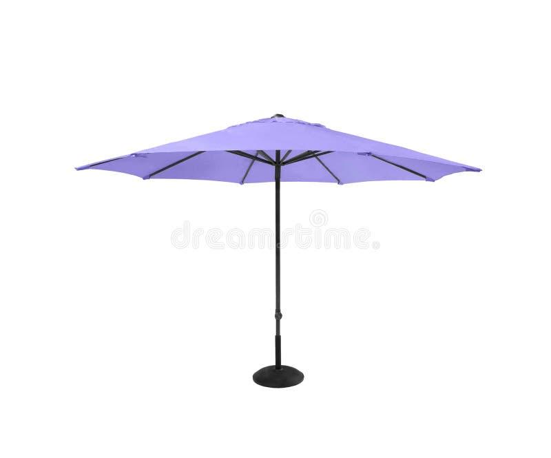 Ιώδης ομπρέλα παραλιών που απομονώνεται στο λευκό στοκ εικόνες με δικαίωμα ελεύθερης χρήσης