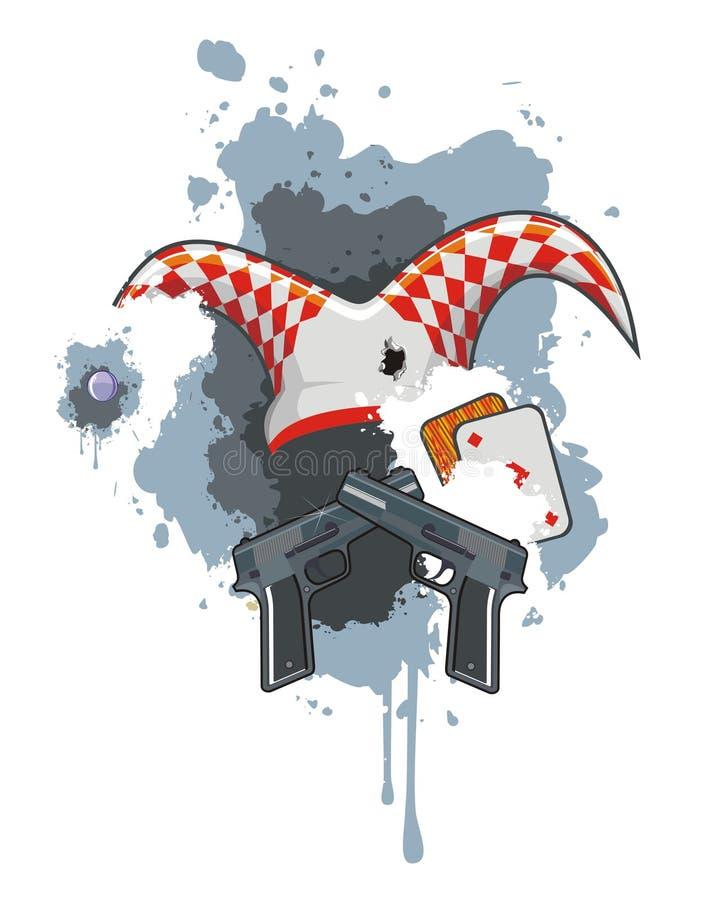 ιώδης σκηνή πυροβόλων όπλω&nu ελεύθερη απεικόνιση δικαιώματος