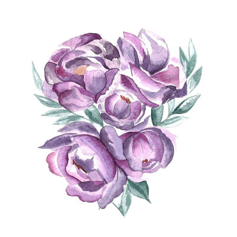 Ιώδη λουλούδια άνοιξη διανυσματική απεικόνιση