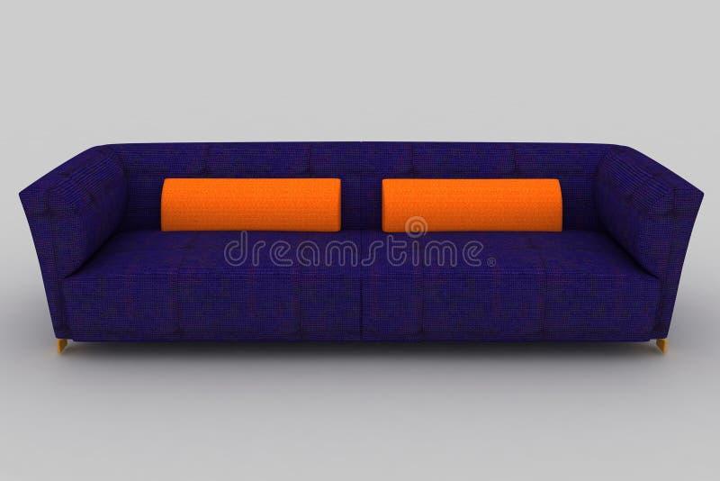 Ιώδης πορτοκαλής καναπές στοκ εικόνες
