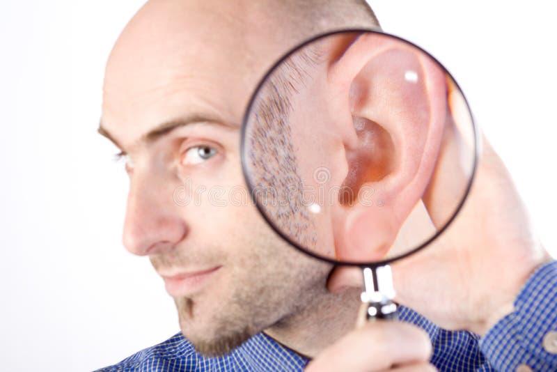 ι άκουσμα μ στοκ φωτογραφία