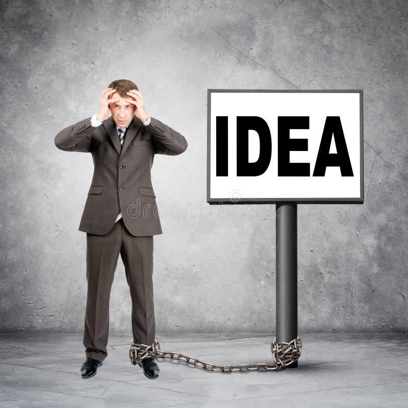 Ιδέα λέξης επιχειρηματιών σχετικά με το μετα σημάδι στοκ φωτογραφία με δικαίωμα ελεύθερης χρήσης