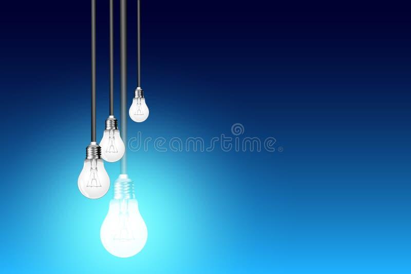Ιδέα λαμπών φωτός απεικόνιση αποθεμάτων