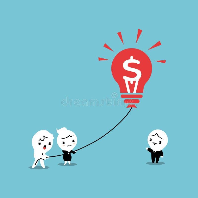 Ιδέα επιχειρησιακών μπαλονιών Lightbulb διανυσματική απεικόνιση