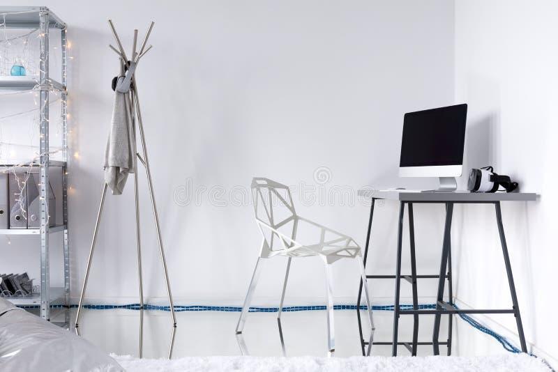 Ιδέα δωματίων μελέτης Minimalistic στοκ εικόνα